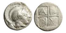Ancient Coins - Macedon, Akanthos, c.470-390 BC. AR Diobol