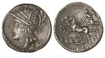 Ancient Coins - Roman Republic, C Coelius Caldus, 104 BC, AR Denarius
