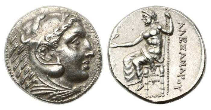 Ancient Coins - Macedon, Alexander the Great, 336-323 BC, AR Tetradrachm