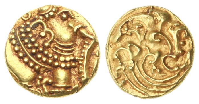 Ancient Coins - India, Western Ganga, Anonymous 1080-1138, AV Pagoda