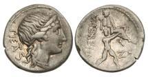 Ancient Coins - Roman Republic, M Herennius, 108-107 BC, AR Denarius