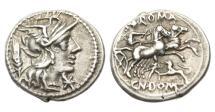 Ancient Coins - Roman Republic, Cn Domitius Ahenobarbus, 116-115 BC, AR Denarius