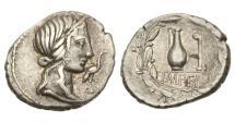 Ancient Coins - Roman Republic, Q Caecilius Metellus Pius, 81 BC, AR Denarius.