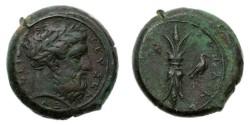 Ancient Coins - Sicily, Syracuse, Timoleon, 344-317 BC. Æ Hemidrachm