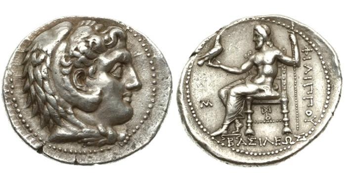 Ancient Coins - Macedon, Philip III Arrhidaeus, 323-317 BC AR Tetradrachm