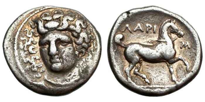 Ancient Coins - Thessaly, Larissa 350-325 BC, AR Stater