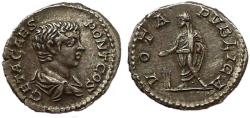 Ancient Coins - Geta, as caesar.