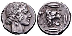 Ancient Coins - Sicily, Leontini.