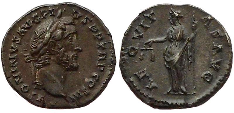 Ancient Coins - Antoninus Pius. Rome, 140-143 AD.