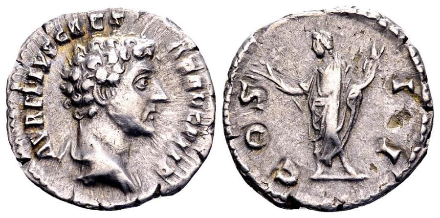 Ancient Coins - Marcus Aurelius as Caesar.