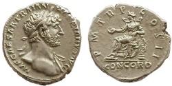 Ancient Coins - Hadrian, 118 AD.