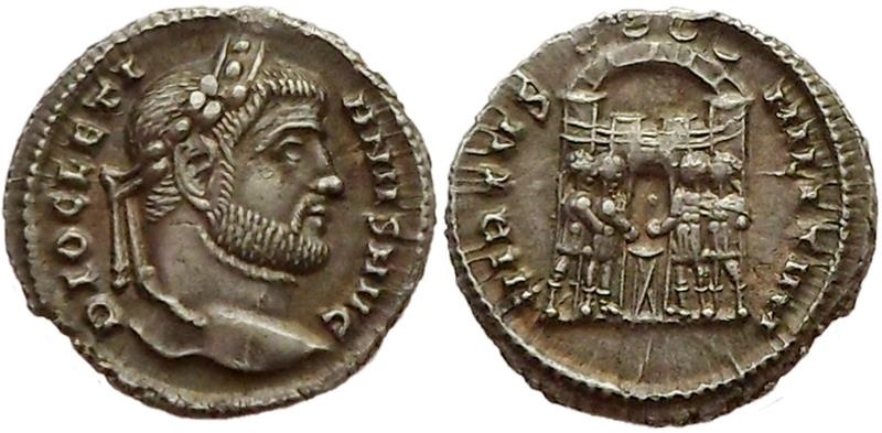 Ancient Coins - Diocletian, 294-295 AD.