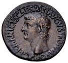 Ancient Coins - Gaius, for Germanicus (died 19 AD).