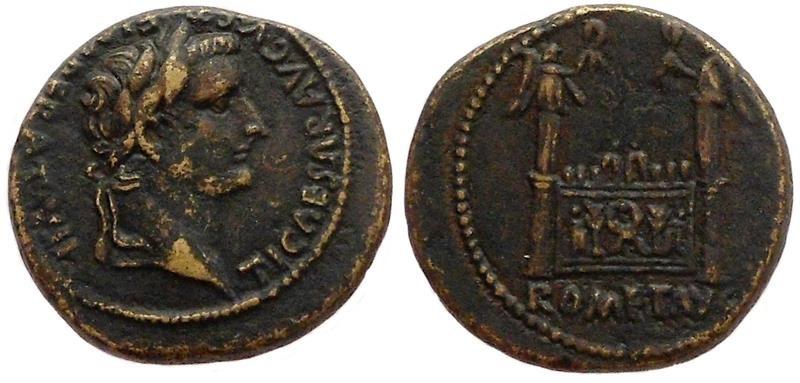 Ancient Coins - Tiberius as caesar. Lugdunum 12-14 AD.