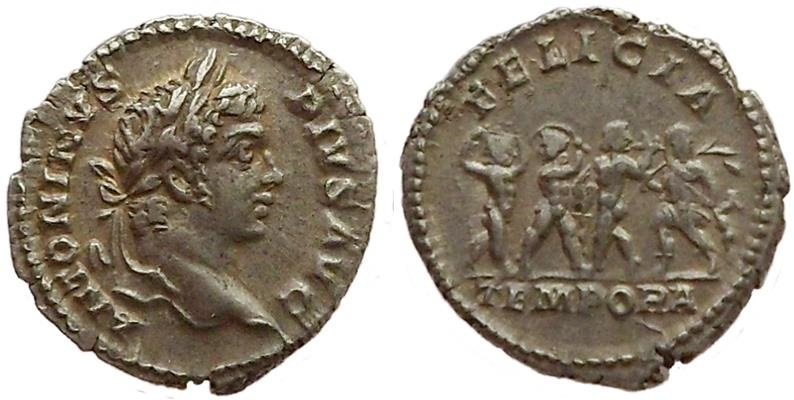 Ancient Coins - Caracalla, 206-210 AD.