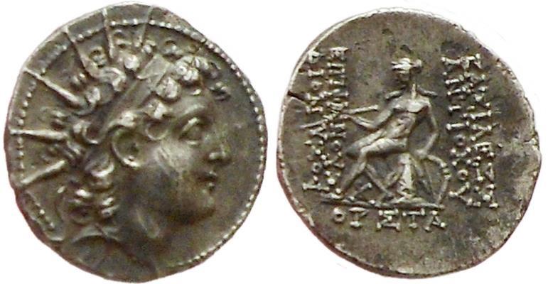Ancient Coins - Seleucids, Antiochos VI Dionysos, 143-142 BC.