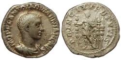Ancient Coins - Diadumenian as caesar. Denarius. 217-18 AD.