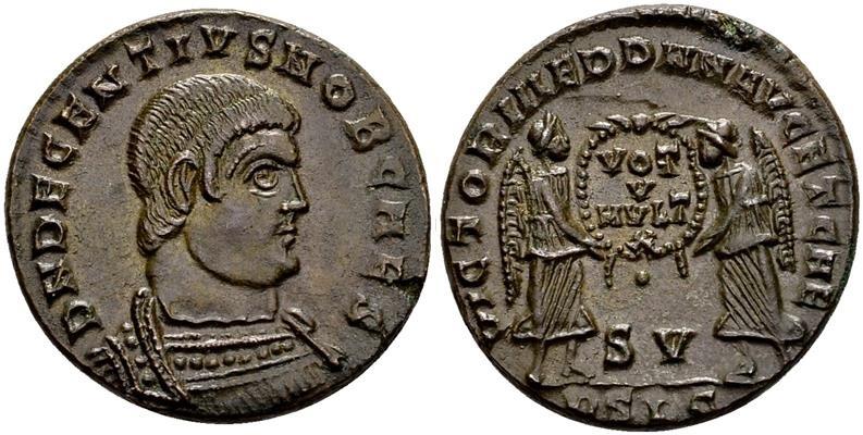 Ancient Coins - Decentius. Lugdunum (2nd off.), 351-353 AD.