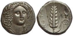 Ancient Coins - Lucania, Metaponte. Ca. 330-290 BC.