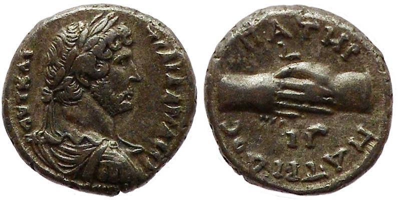 Ancient Coins - Hadrian, 128 – 129 AD.
