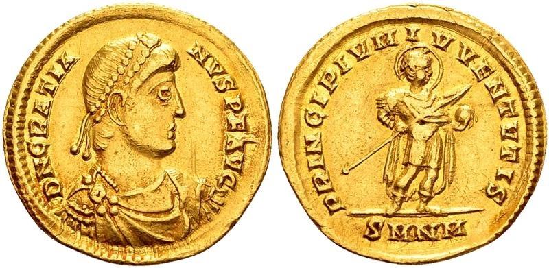 Ancient Coins - Gratian. Nikomedia, 367 AD.
