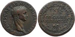 Ancient Coins - Claudius, 42-43 AD. Sestertius.