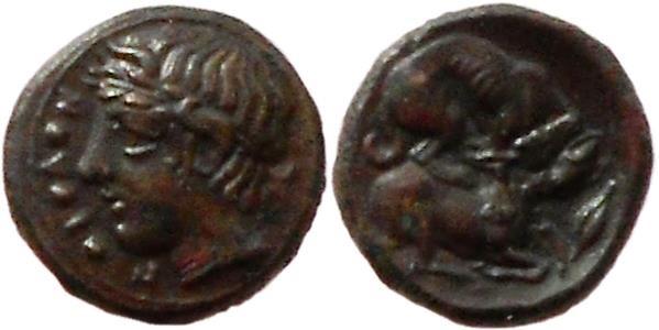 Ancient Coins - Sicily, Piakos. Ca. 425-420 BC.