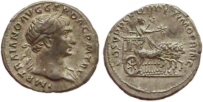 Ancient Coins - Trajan, ca. 107-111 AD.