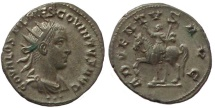 Ancient Coins - Hostilian as emperor. May – July 251 AD.