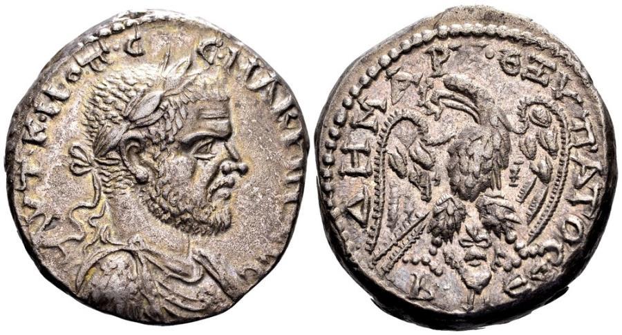 Ancient Coins - Macrinus. Beroea, 217-218 AD