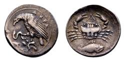 Ancient Coins - Sicily, Akragas. 425 - 426 BC