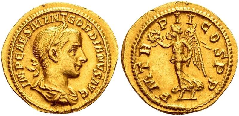 Ancient Coins - Gordian III, 239 AD.