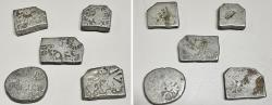 Ancient Coins - Five Punchmarked silver coins from Ancient India