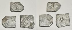 Ancient Coins - Three Punchmarked silver coins from Ancient India