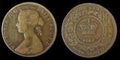 World Coins - Nova Scotia: 1862 Victoria 1¢