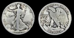 Us Coins - Walking Liberty Half Dollar - 1916S - Good