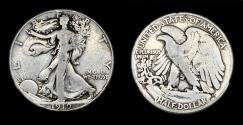 Us Coins - Walking Liberty Half Dollar - 1919S - Good
