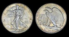Us Coins - Walking Liberty Half Dollar - 1937P - Abt Unc