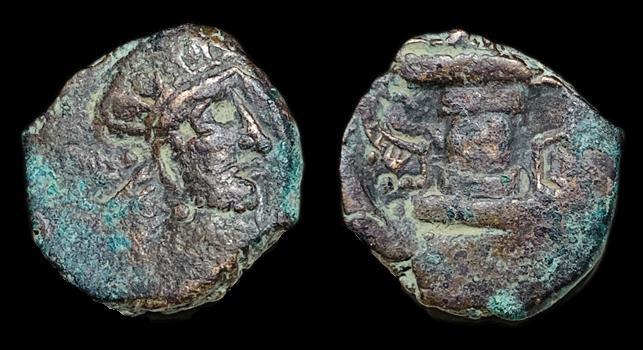 Ancient Coins - Kushano-Sasanian: Imitating Peroz I