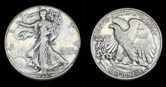 Us Coins - Walking Liberty Half Dollar - 1938D - Very Fine