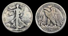 Us Coins - Walking Liberty Half Dollar - 1920D - Very Good