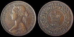 World Coins - Nova Scotia: 1864 Victoria 1¢