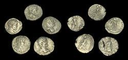 Ancient Coins - Septimius Severus: Lot of Five Denarii