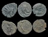 Ancient Coins - Tetricus: Barbarous Radiates, Lot of three