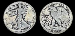 Us Coins - Walking Liberty Half Dollar - 1921S - Very Good