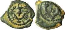 Ancient Coins - A bronze prutah of Herod the Great, mint of Jerusalem