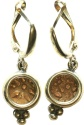 "Ancient Coins - A pair of silver earrings with original ""Widow's Mite"" coins (103-76 B.C.E.) – perfect gift!"