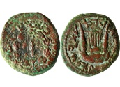 Ancient Coins - A medium bronze coin (Dupondius), the first year of Bar Kochba Revolt