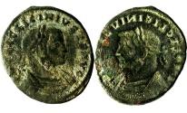 Ancient Coins - A Roman follis of Licinius - brockage