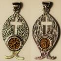 """Ancient Coins - A decorated silver pendant with original """"Widow's Mite"""" coin (103-76 B.C.E.) – perfect gift"""